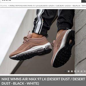 """NIKE AIR MAX 97 LX """"DESERT DUST"""" - No Box"""